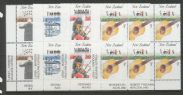 SG 1407-10 Music in New Zealand set of 4 imprint blocks of 6 (NF1/68)